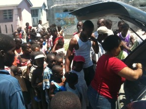 The New Haiti Project Soup Distribution