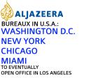 Official lists of U.S. Bureaux of Aljazeera English